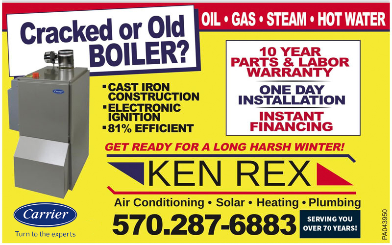 Cracked or old boiler? Ken Rex can help you replace it!
