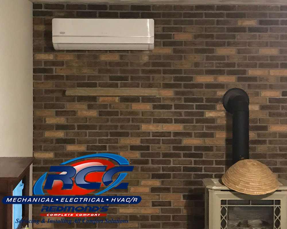 Bryant Highwall ductless heat pump unit in bonus room near State College, PS