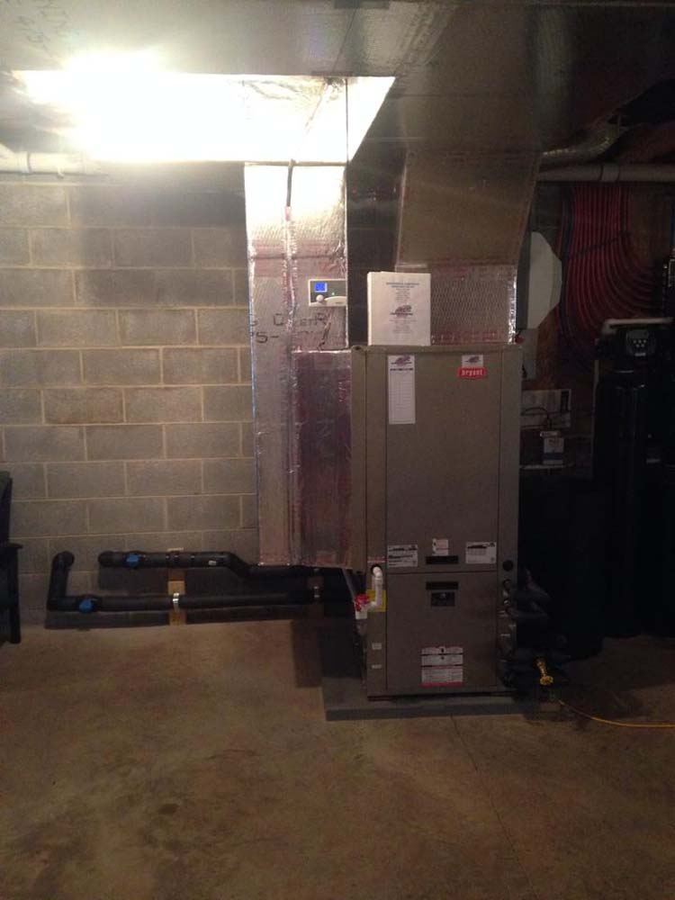 Bryant High Efficiency Furnace installed in New Construction