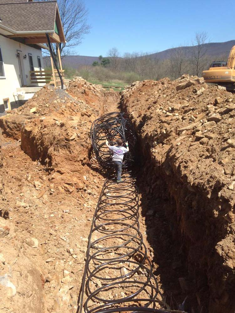 Laying out Geothermal system loop