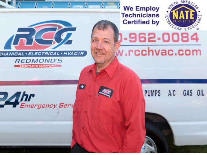 We employ NATE Certified Technicians