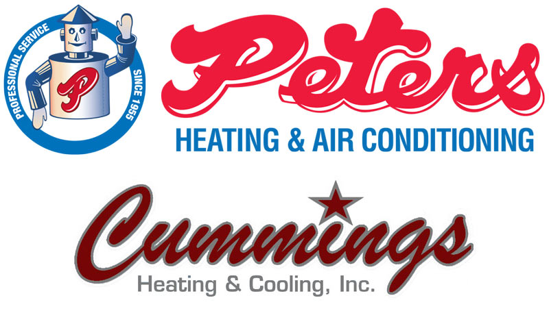 Peters Heating & Air and Cummings Heating & Cooling Logos