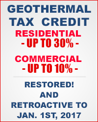 Geothermal tax credit - residential 30%