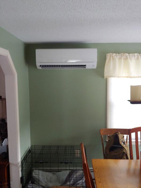 Mitsubishi Ductless Indoor Installation