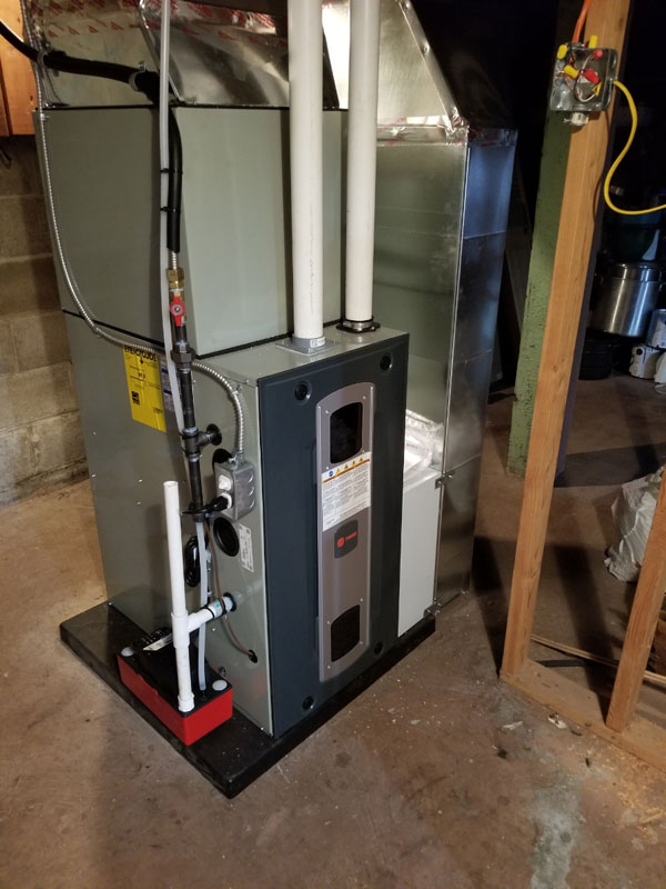 Trane 2-stage Condensing Gas Furnace with A/C and Media Filter Installation