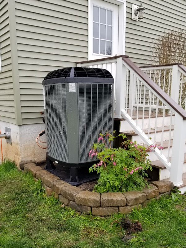 Trane heat pump professionally installed by our install team