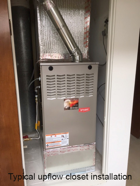 Typical Upflow Closet Installation