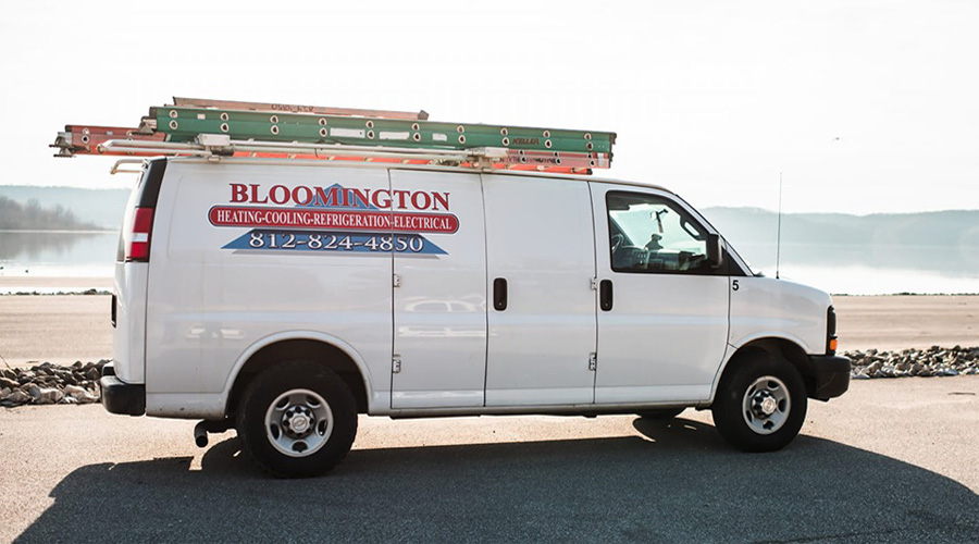 Bloomington Heating, Cooling and Electrical, LLC Service and Installation Van