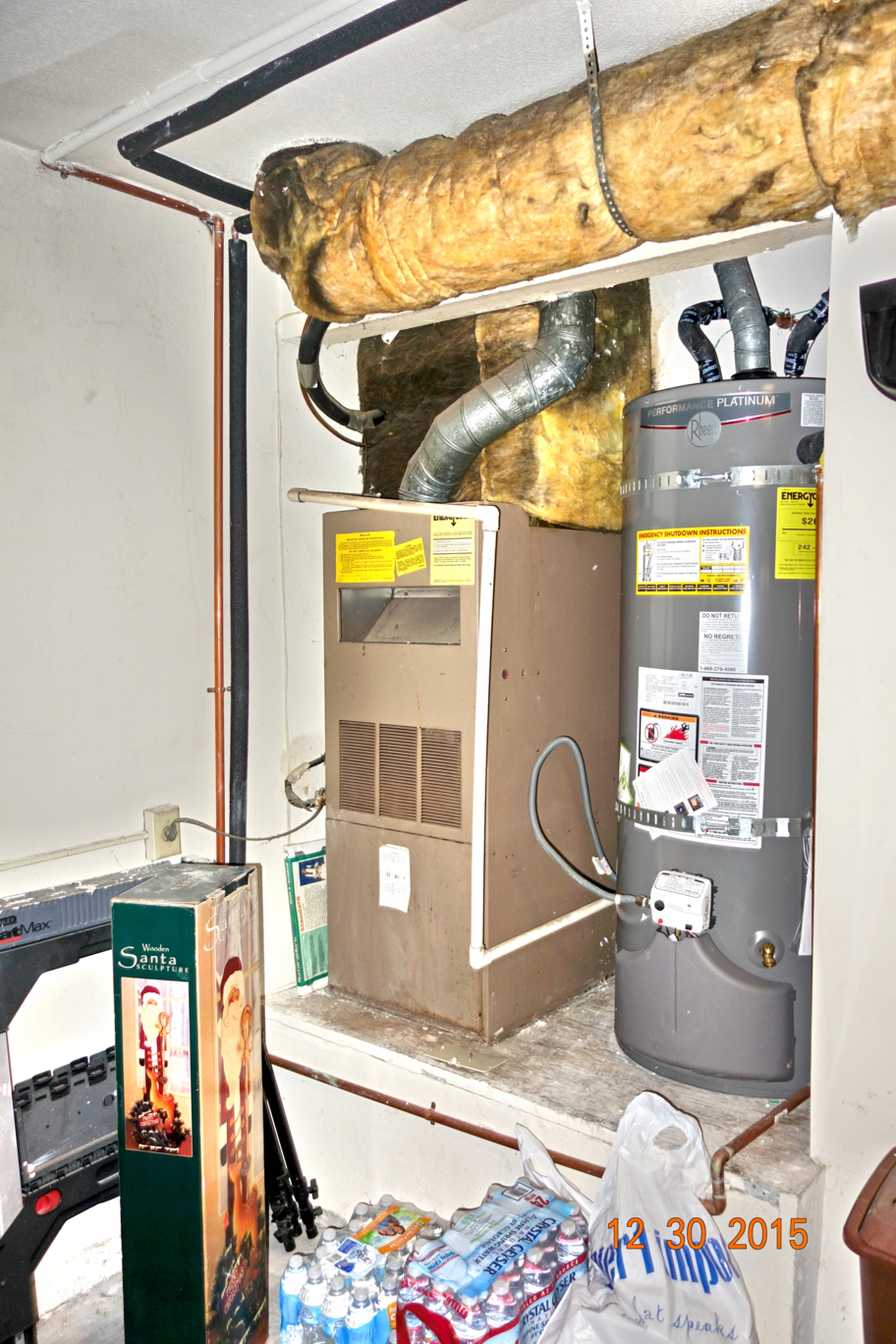 New Furnace - Coil in Garage - Before