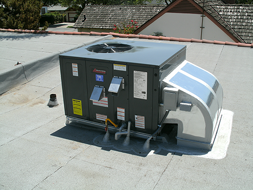 Packaged Unit on Flat Roof