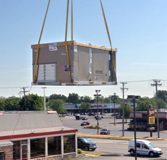 Roof top Crane Lift