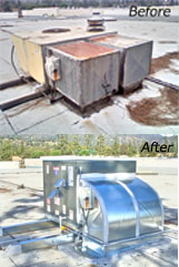 Roof Top Packaged Unit Installation Before/After