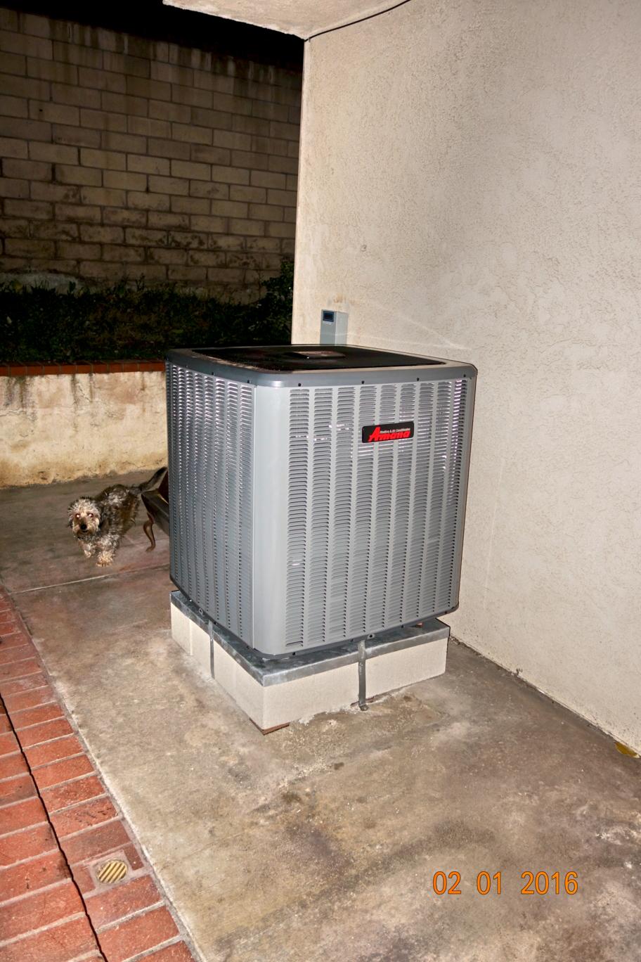 Air Conditioning Installation on a dog platform