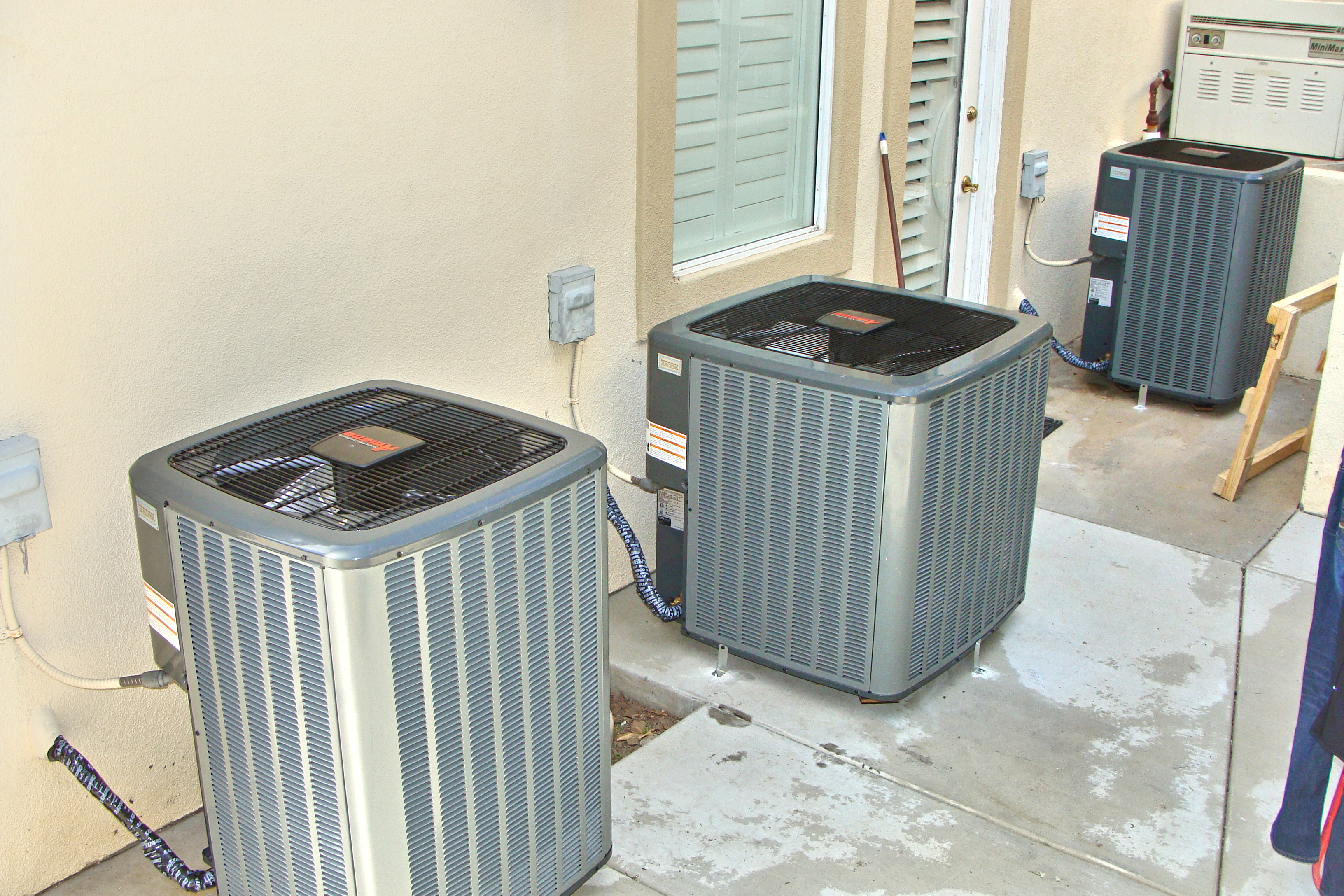 Multiple Air Conditioning Unit Install