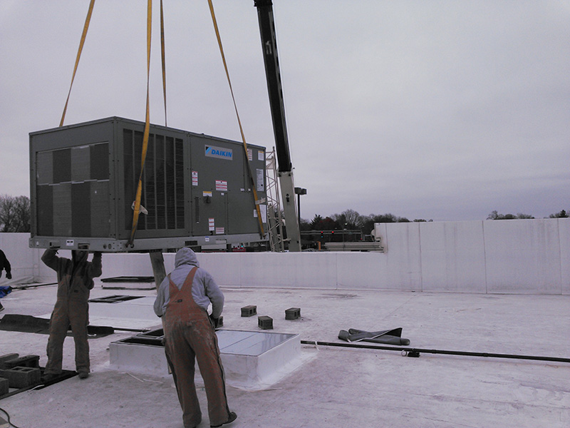 Commercial HVAC replacement in Champaign