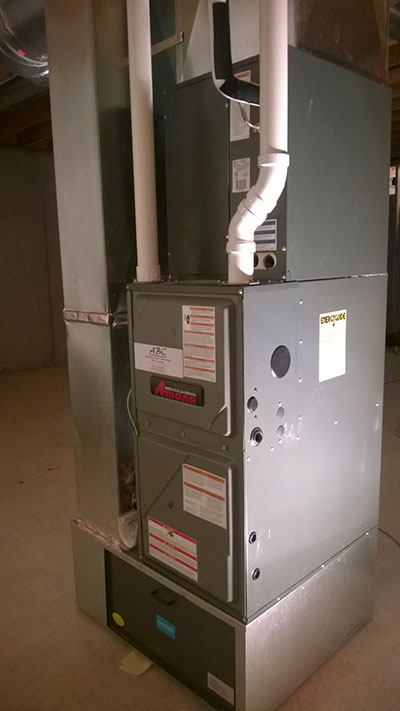 96% furnace with filter new construction in Mahomet