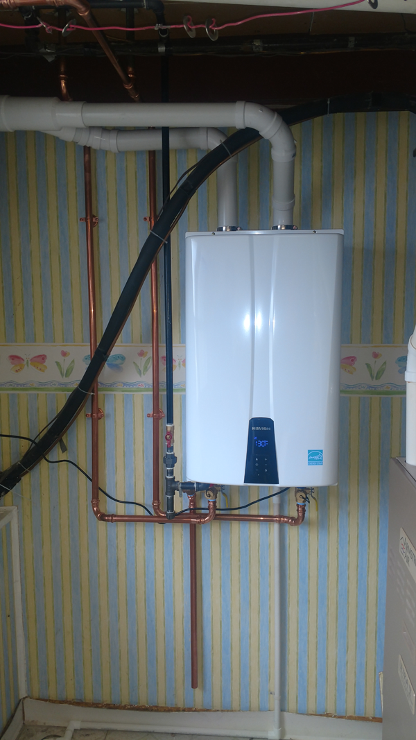 <p>After: Navien 96% Tankless Condensing Water Heater with PVC Venting</p>