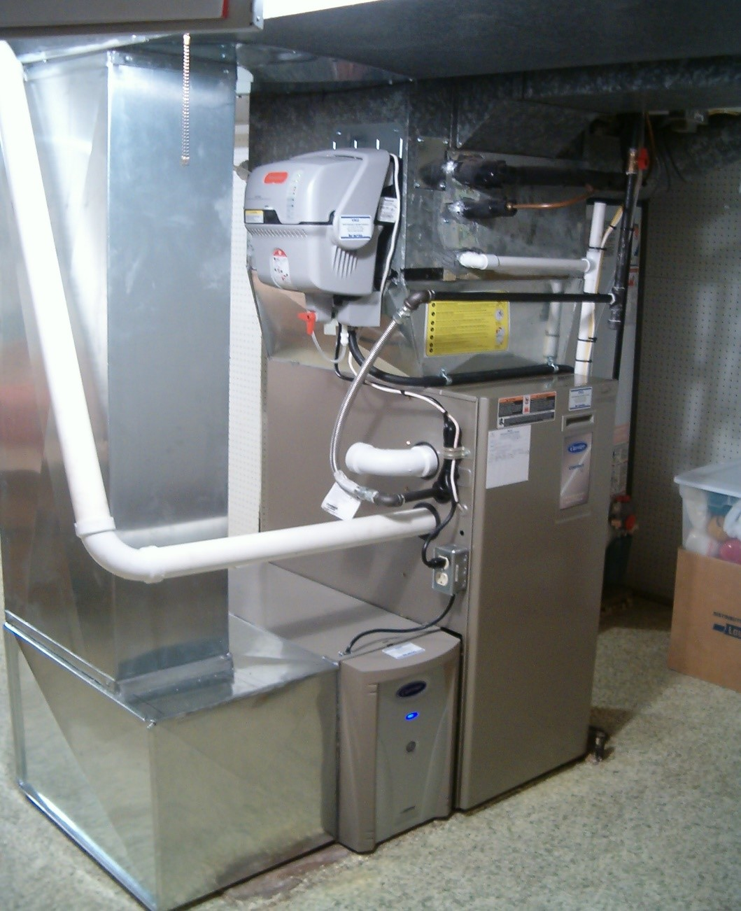 High efficiency furnace install, Humidifier install, electronic air cleaner install New Castle, Indiana