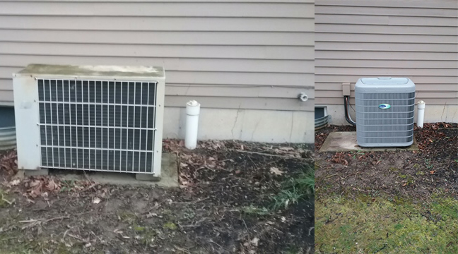 Air Conditioning Before & After