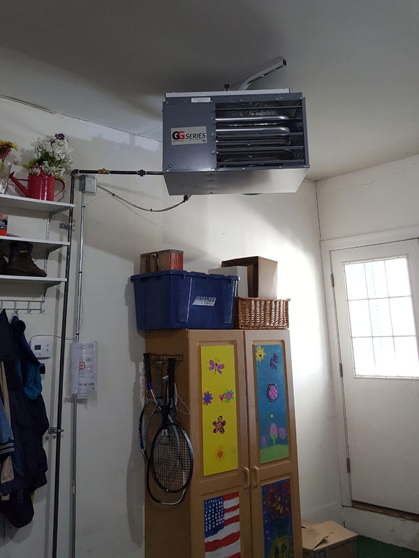 Sterling Garage Guy Unit Heater Installation
