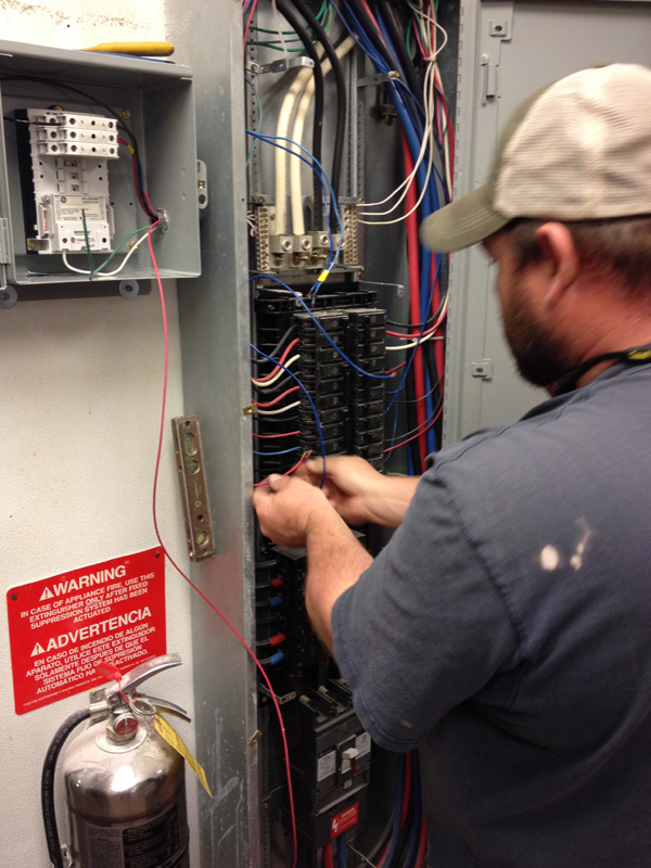 Replacing lighting contactor at Popeye's in McCalla
