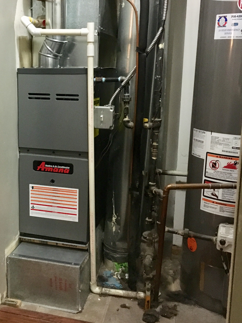 Amana AMH80 Furnace Install<br>March 16, 2017 - Plainfield IL