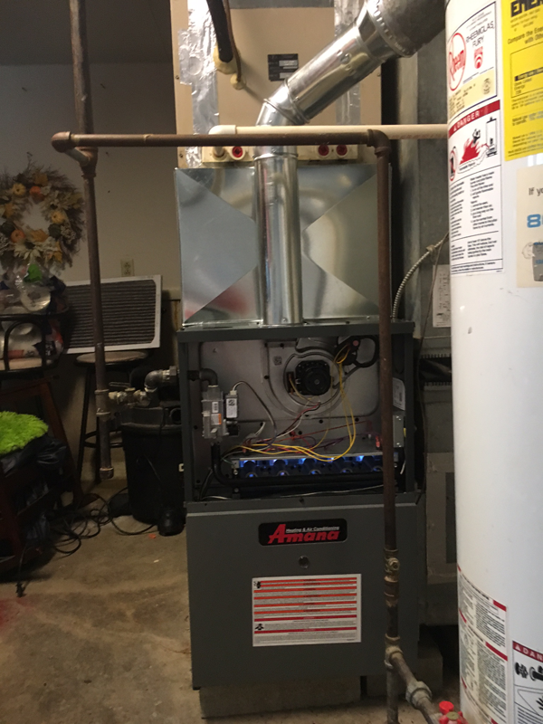 After - Amana Furnace Install<br>January 8, 2018 - Plainfield IL