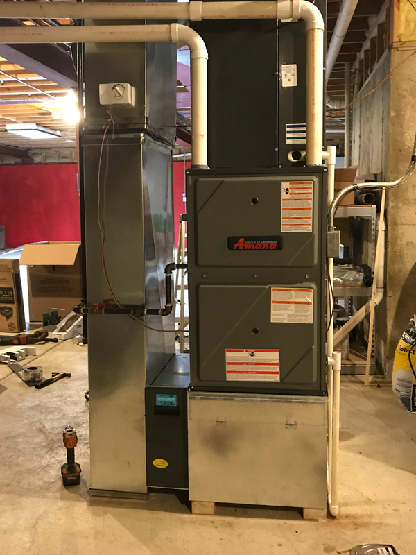 After - Amana Furnace Install<br>March 26, 2018 - Plainfield IL