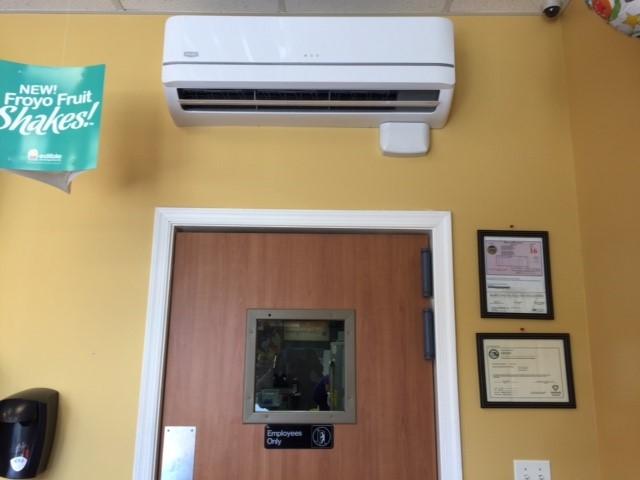 Bryant High Wall Mini Split heat  pump with condensate pump