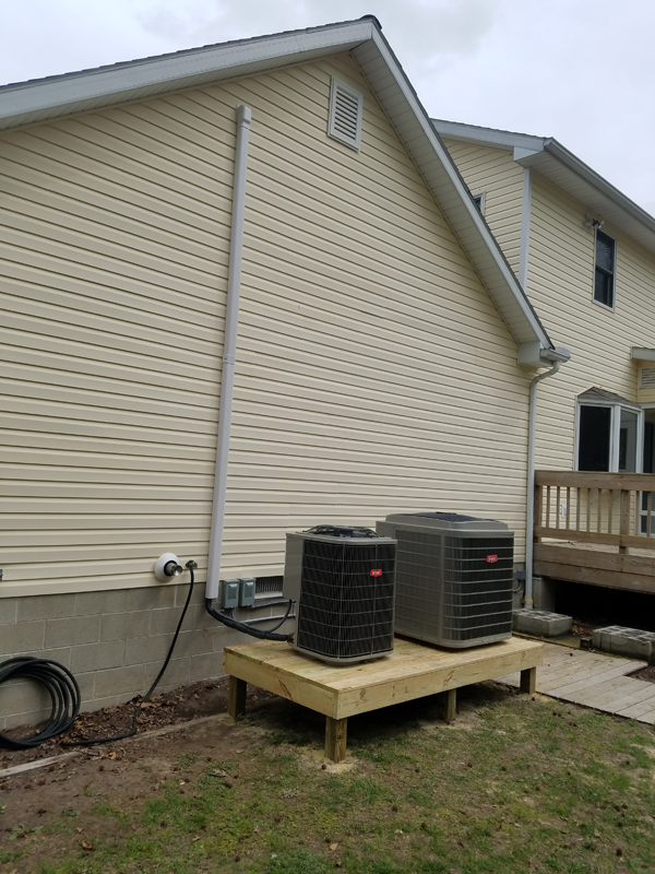 2 New Bryant Heat Pumps, Relocation and New Linesets
