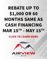 Rebate or Financing between Mar 15-May 15