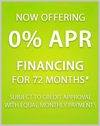 0% for 72 months financing