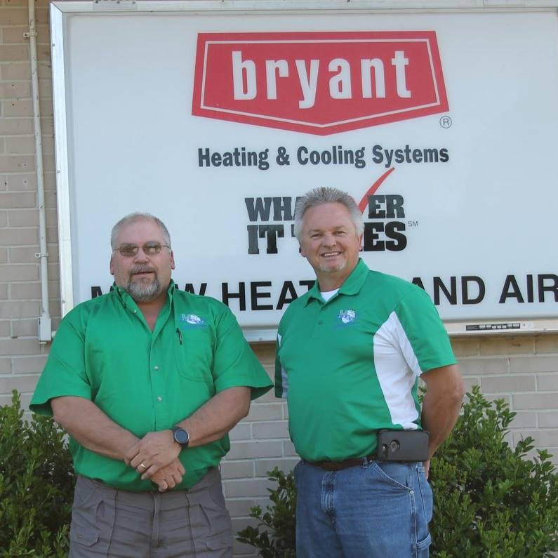 Mark McCranie and Mike Weeks are the owners of M&W Heating and Air