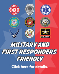 Military and First Responders advertisement