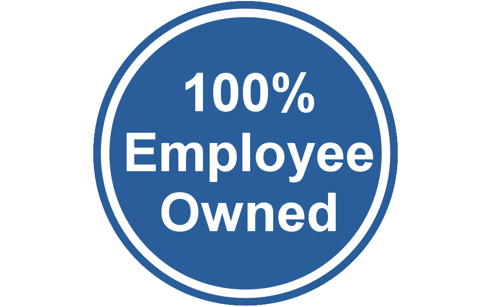 100% Employee Owned badge