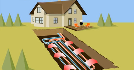 geothermal system in summer