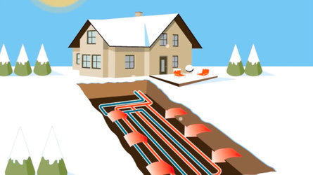 geothermal system in winter