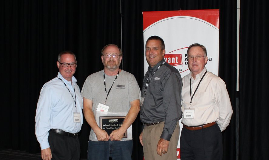 Image of McConnell Heating & Cooling team receiving award