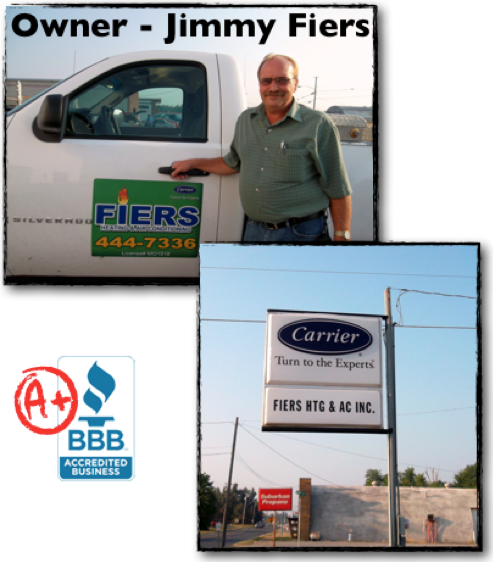 owner and company sign and BBB logo