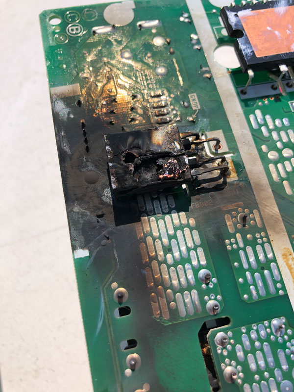 Burned Circuit Board