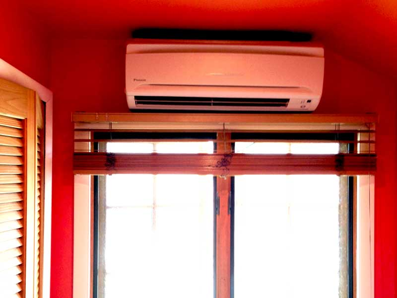 Indoor AC Unit Above Window