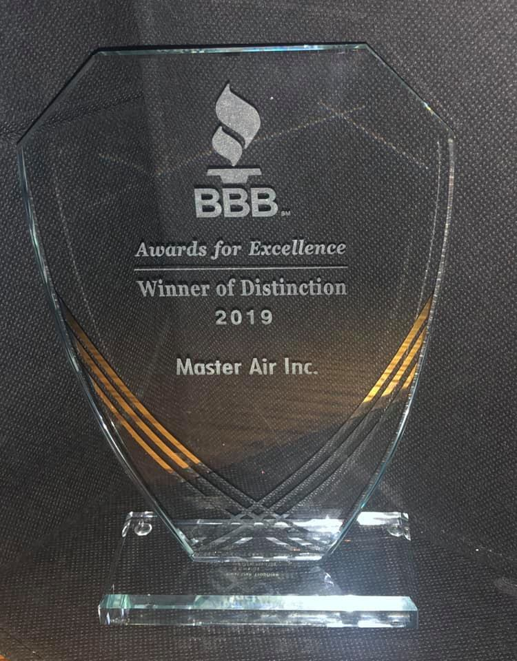 BBB Awards for Excellence Winner of Distinction for 2014, 2015, 2016, 2017 and 2019