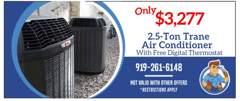 2.5 Ton Trane Air Conditioner with Free Thermostat
