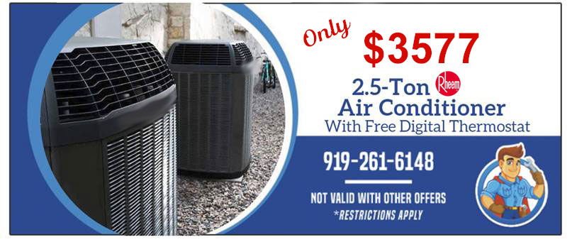 2.5 Ton Rheem Air Conditioner with Free Thermostat