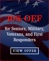 10% Off for Seniors, Military, First Responders, etc.
