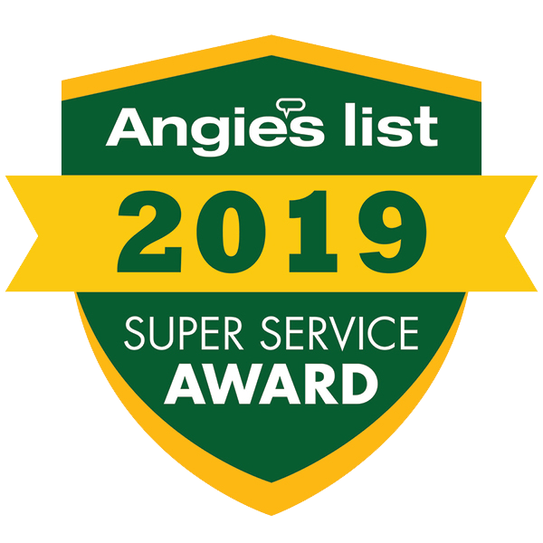 Angie's List Super Service Award Winner from 2008 to 2019