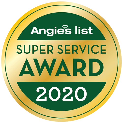 Angie's List Super Service Award Winner from 2008 to 2020