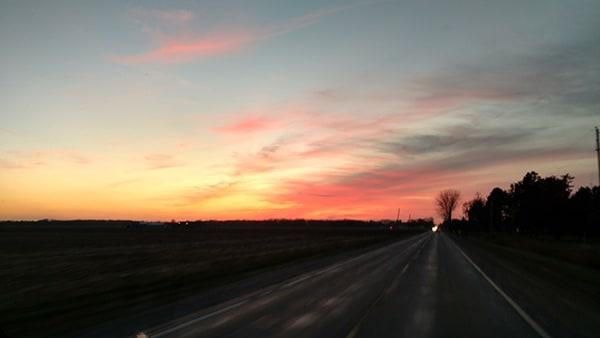 Beautiful Sunrise on Swan Creek Road