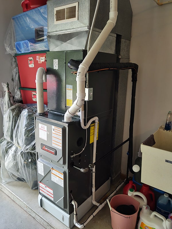 New Furnace in a Garage