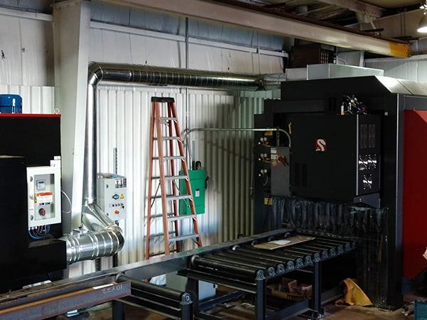 Vent Duct for a CNC Plasma Machine 1